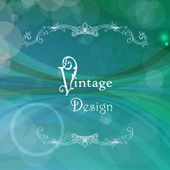 Vector abstract background with vintage frame — Stock Vector