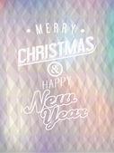 Christmas abstract driehoekige achtergrond met groeten — Stockvector