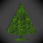Stylized paper Christmas tree — Stock vektor