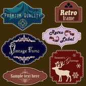 Retro frames set — Stock Vector
