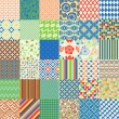 Set of seamless childish patterns — Stock Vector