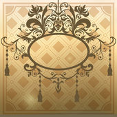 Vintage frame at blurry background for design — Stock Vector
