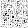 Set of sketch icons for site or mobile application — Stock Vector #38734249