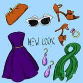 New look clothes set — Stock Vector
