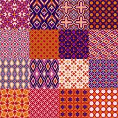 Set of classic bright geometric patterns — Stock Vector