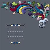 Funky design with bright cartoon swirls — Stock Vector