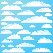 Set of vector cartoon clouds — Stock Vector