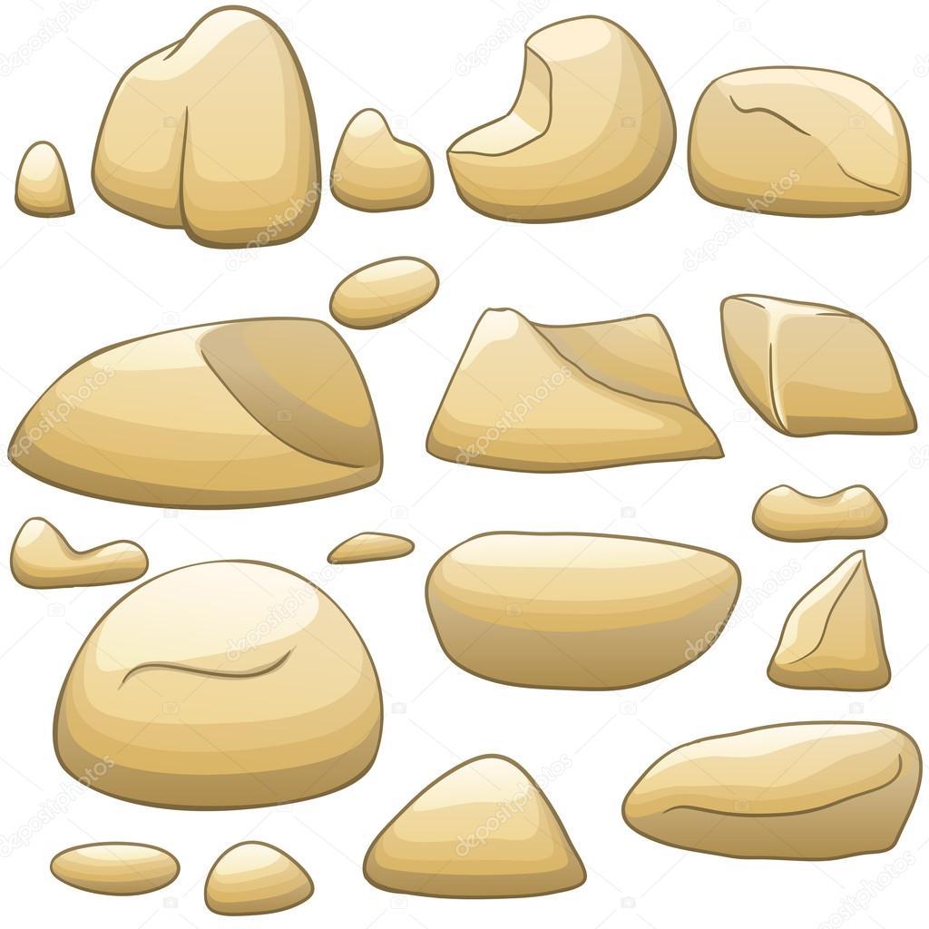 Vector de dibujos animados piedras conjunto vector de - Dibujos de piedras ...