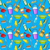 Cleaning supplies cartoon set — Stock Vector