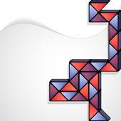 Rubik snake abstraktní minimalistický design — Stock vektor