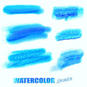 Watercolor blue swatches — Stock Vector