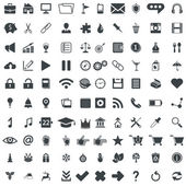 100 universal vector pictograms for web and mobile apps — Stock Vector