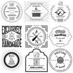 Set of vintage knitting labels, badges and design elements — Stock Vector #50174163