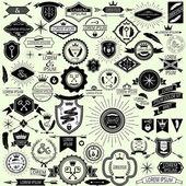 Coleção de etiquetas do vintage do vetor e selos para o projeto — Vetorial Stock