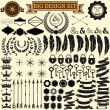 Collection of 100 vector icons for retro design. — Stock Vector #50350279