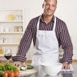 Attractive male chef — Stock Photo