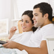 Couple Watching Television — Stock Photo #18762913