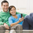 Couple Watching Television — Stockfoto