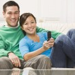 Couple Watching Television — Stock Photo #18762579