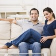 Royalty-Free Stock Photo: Couple on Couch
