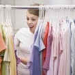 Woman in Closet — Stock Photo