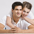 Happy Couple Posing Together. — Stock Photo