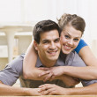 Attractive Couple Posing Together — Stock Photo