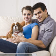 Couple with Dog — Stock Photo #18763579