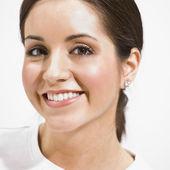 Headshot of Beautiful Brunette — Stock Photo