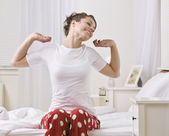 Attractive Young Woman Stretching — Stock Photo
