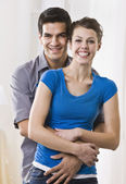 Cute couple embracing — Stock Photo