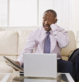 Frustrated Man on Laptop — Stock Photo