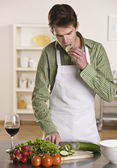 Man Preparing Meal — Stock Photo