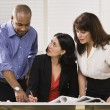 Women and Man Working in Office — Stock Photo #18772449