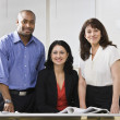Business team posing for picture. - Foto de Stock