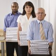 Business Holding Binders — Stock Photo