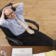 Attractive senior business man relaxing. — Stock Photo #18773705