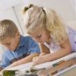Stock Photo: Young Children Coloring