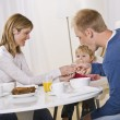 Family Eating Breakfast — Stock Photo