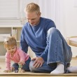 Man Playing with Daughter — Stock Photo