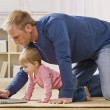 Father and Daughter with Laptop - Stock Photo