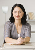 Woman Leaning on Photocopier — Stock Photo