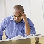 African-American Man Studying — Stock Photo