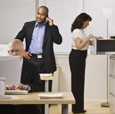 Business Working in Office — Stock Photo