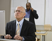 Men Working in Office — Stock Photo