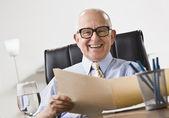 Elderly Business Man Smiling — Stock Photo