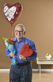 Man with Valentines Presents — Stock Photo