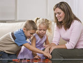 Woman Playing with Children — Stock Photo
