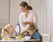 Family Eating Breakfast — Stock Photo
