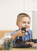 Boy Playing Computer Games — Stock Photo